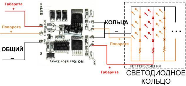 При подключении в режиме RGB