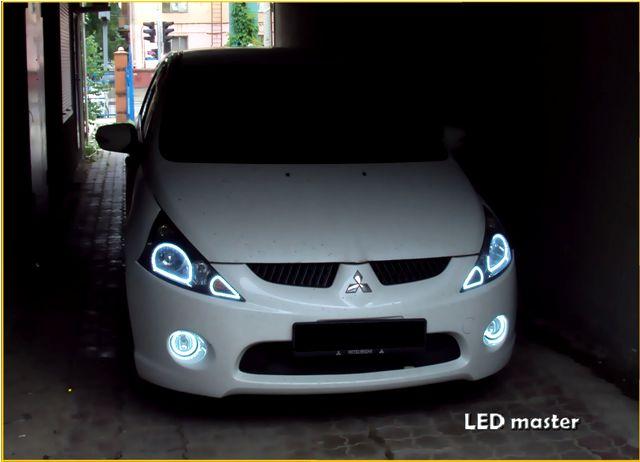 Mitsubishi grandis ангельские глазки или