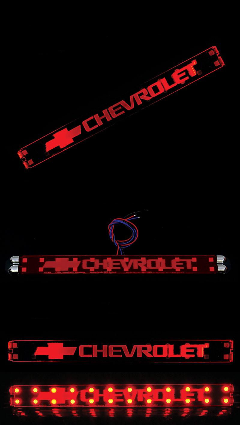 Светодидный модуль доп. стоп сигнала с надписью CHEVROLET CAPTIVA 2008 (габарит-стоп)