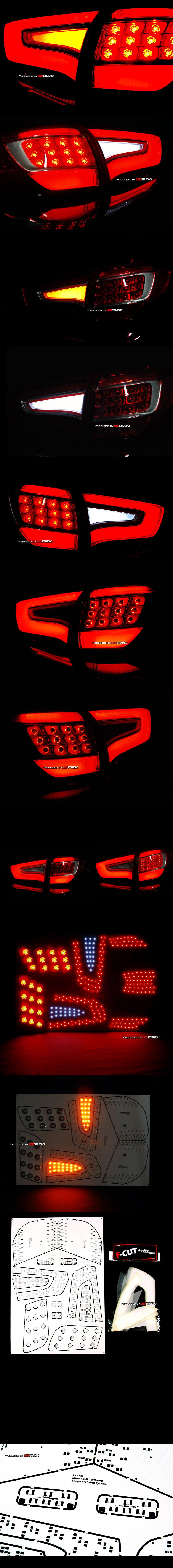 Платы задних фонарей + рассеиватели (набор) KIA SPORTAGE R