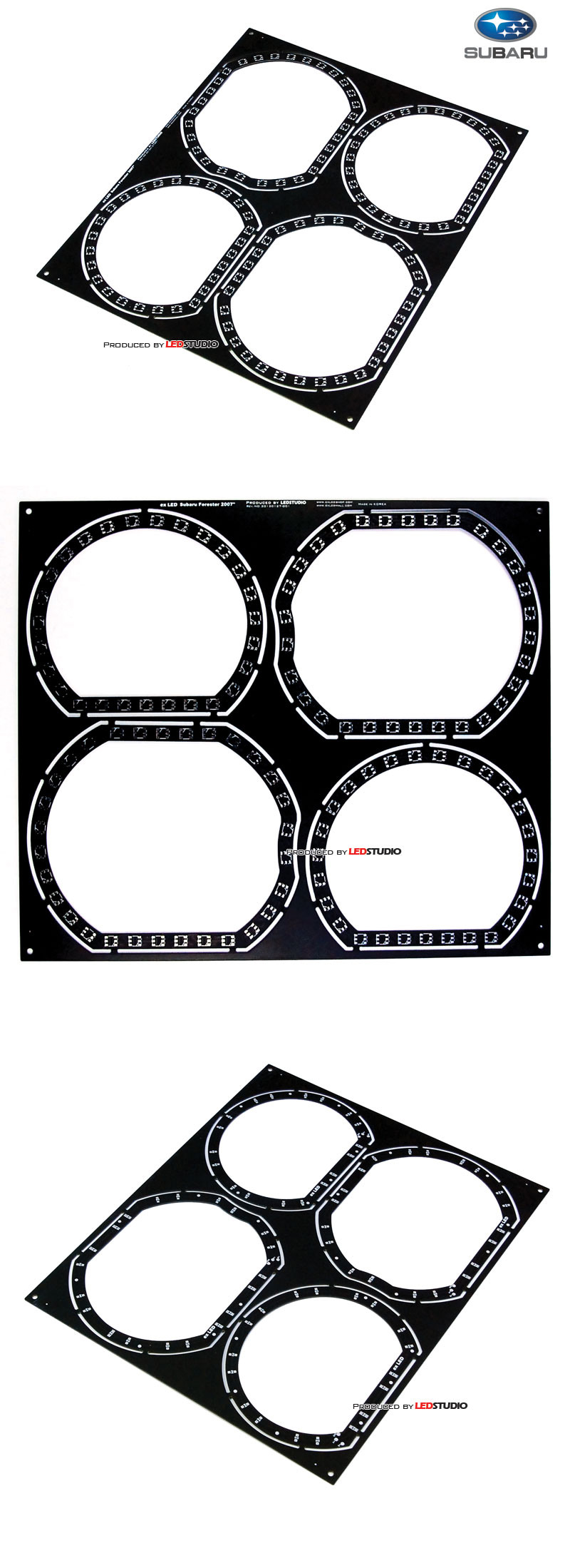 Платы колец SUBARU FORESTER 2007(бело-желтые, набор 4шт)