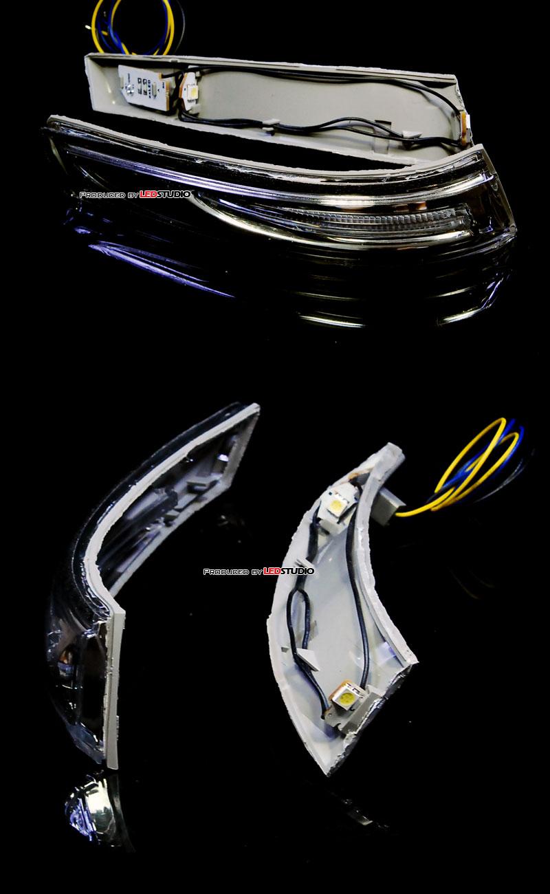 Светодиодные модули БЕЛО-ЖЕЛТЫЕ для повторителей зеркал HYUNDAI ELANTRA 2011