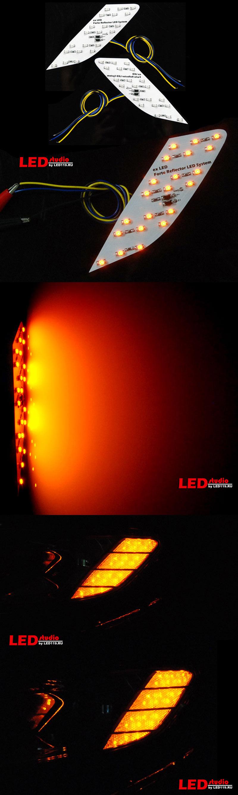 Светодиодные модули бокового отражателя фары KIA CERATO 2010 (2 шт)