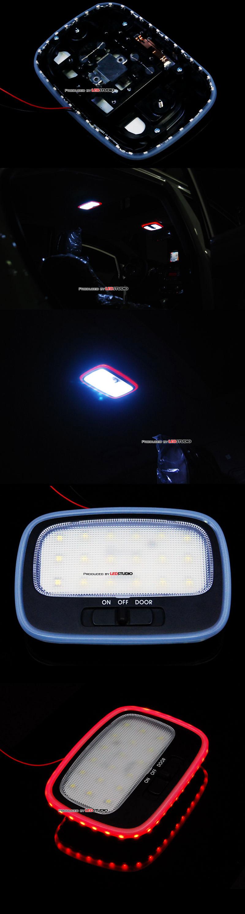 Платы + рассеиватели подсветки плафонов KIA SPORTAGE 2011 (RML-12) (перед+центр)